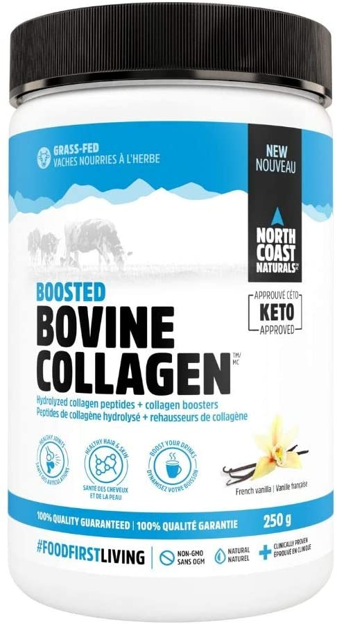 North Coast Naturals Boosted Bovine Collagen 250 g - French Vanilla