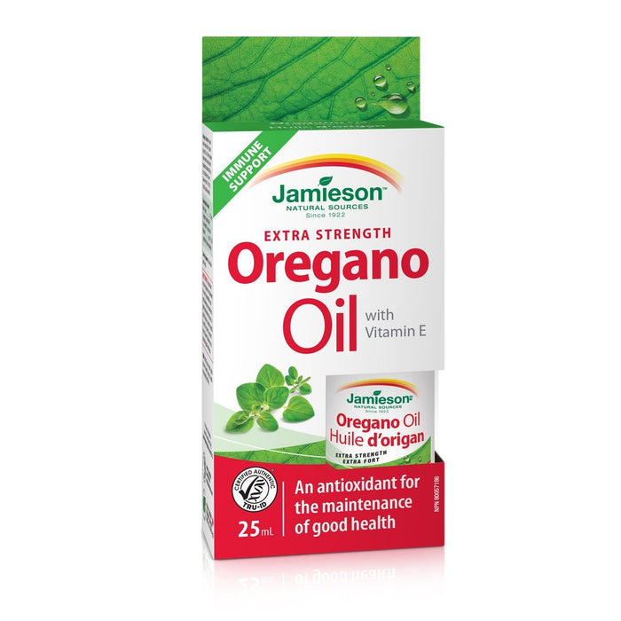 Jamieson Extra Strength Oregano Oil With Vitamin E 25 ml