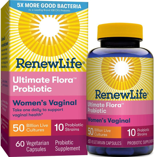 Renew Life Ultimate Flora Vaginal Support 50 Billion 60 Capsules