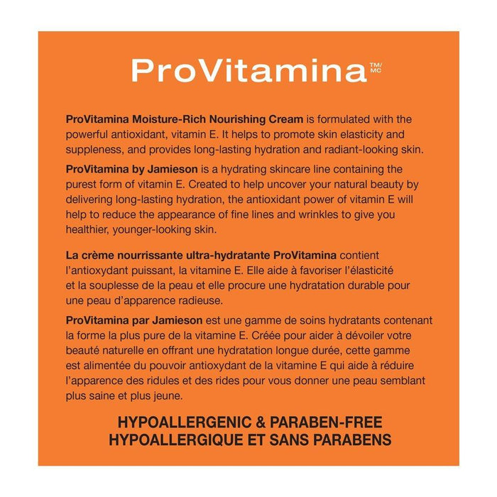 Jamieson ProVitamina E Moisture-Rich Nourishing Cream 120 ml