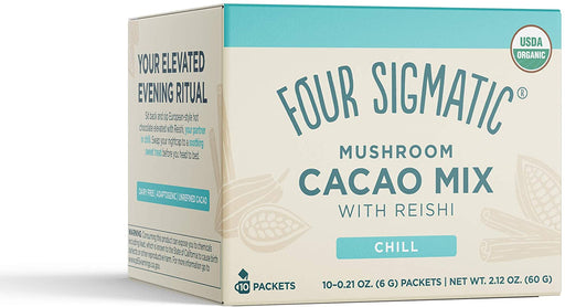 Four Sigmatic Mushroom Hot Cacao Mix with Reishi 10 x 6 g Packets