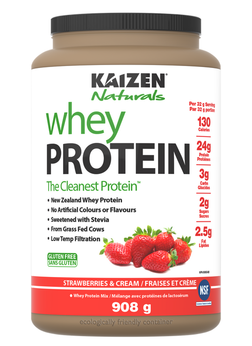 Kaizen Naturals Whey Protein Strawberries & Cream 840 g
