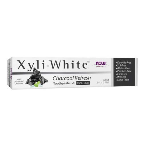 NOW Xyliwhite Charcoal Refresh   Mint Toothpaste 181g