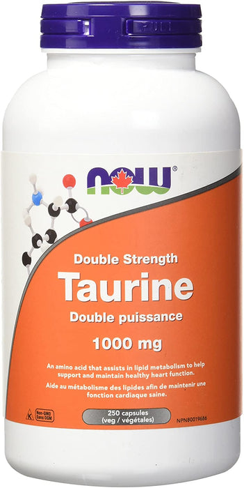 NOW Taurine 1,000 mg 250 Capsules