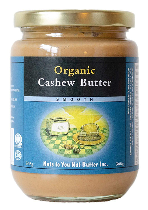 Nuts to You Nut Butter Organic Cashew Butter Smooth 365 g