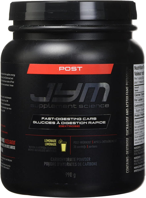 JYM® POST JYM Fast-Digesting Carb 993 g 30 Servings - Lemonade