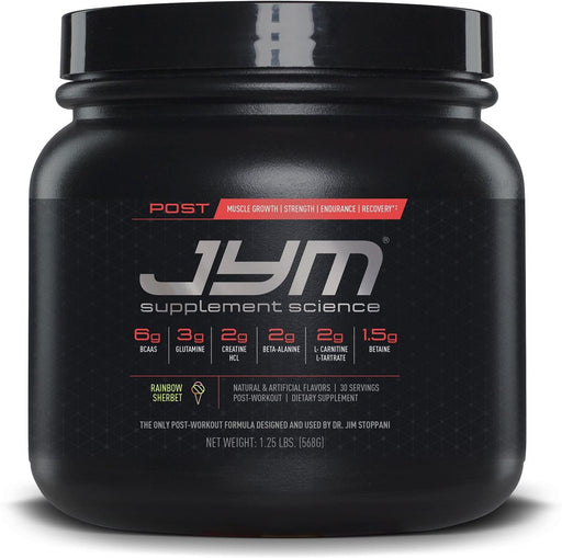 JYM® POST JYM 568 g 30 Servings - Rainbow Sherbet