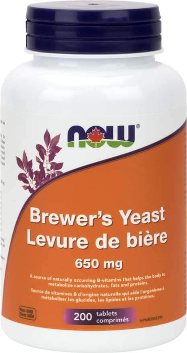 NOW Brewer's Yeast 650 mg 200 Tablets
