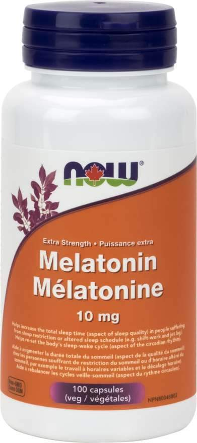 NOW Melatonin 10 mg 100 Capsules