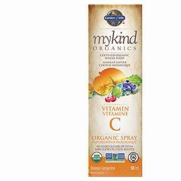 Garden of Life mykind Organics Vitamin C Spray Orange Tangerine