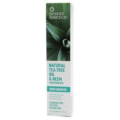 Desert Essence Natural Tea Tree Oil & Neem Toothpaste 176 g