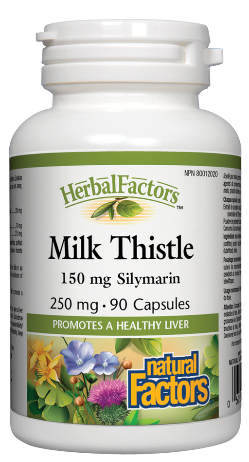 Natural Factors Milk Thistle - 150 mg Silymarin 90 Capsules