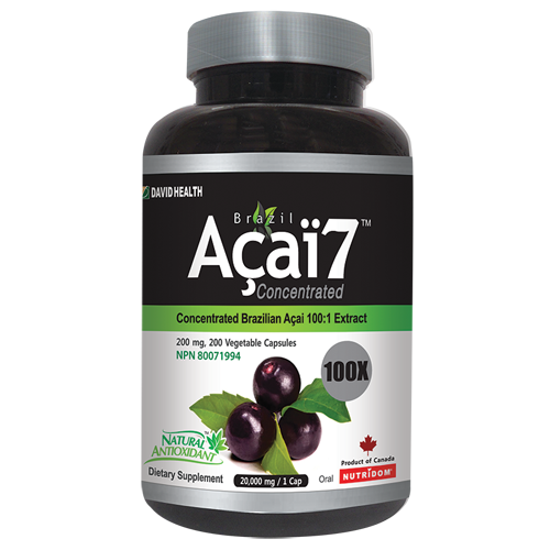 Brazil Acai 7 100x Concentrated 200 mg 50 Capsules