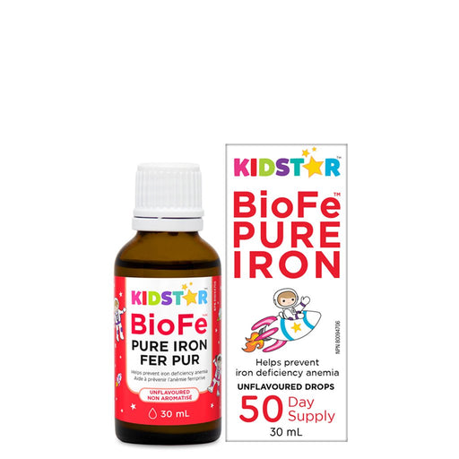KidStar Nutrients BioFe Pure Iron Unflavoured Liquid Drops 30 mL