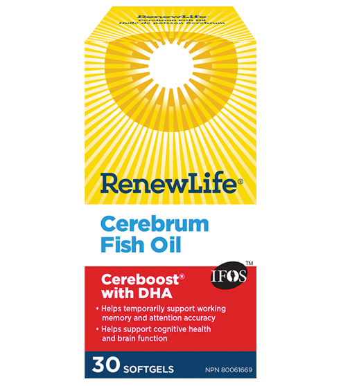 Renew Life Cerebrum Fish Oil 30 Softgels