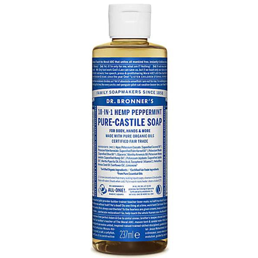 Dr. Bronner's Peppermint Liquid Soap 237 mL