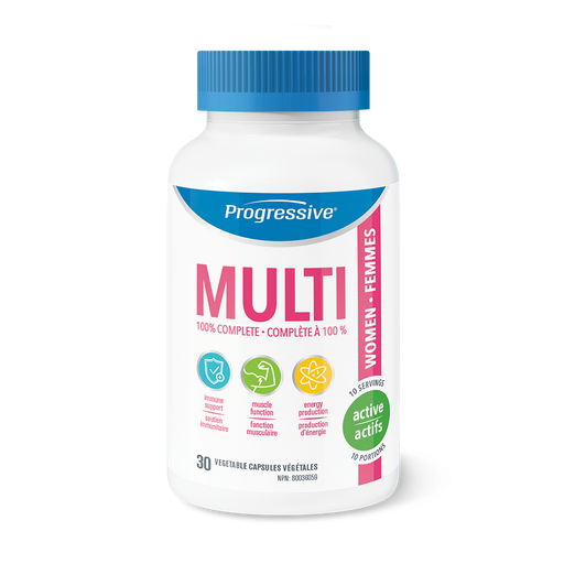 Progressive MultiVitamin for Active Women 30 Capsules