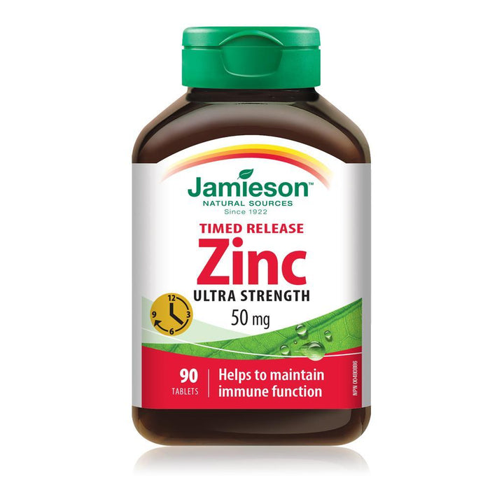 Jamieson Timed Release Zinc Ultra Strength 50 mg 90 Tablets