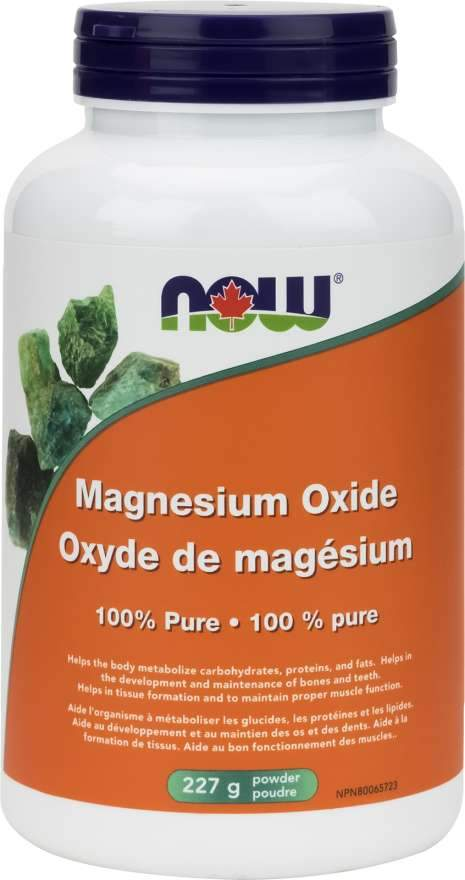 NOW Magnesium Oxide Powder 227 Grams
