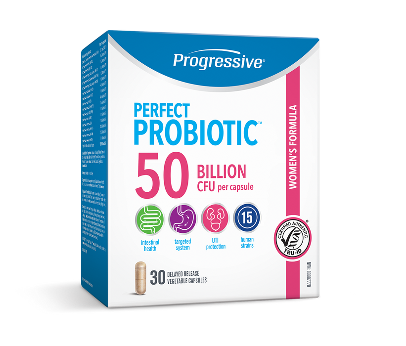 Progressive Perfect Probiotic Women's Formula 50 Billion CFU 30 Capsules