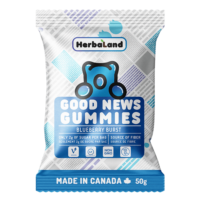 HerbaLand Good News Gummies Blueberry Burst Box of 12