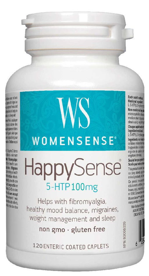 WomenSense HappySense 5-HTP 100 mg 120 Caplets NEW