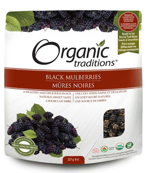Organic Traditions Black Mulberries