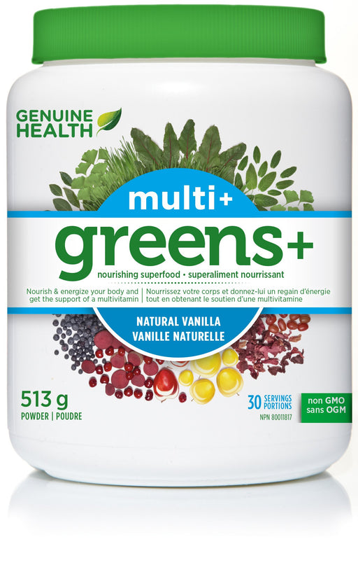 Genuine Health Greens+ Multi+ Natural Vanilla