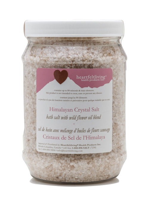 Heartfelt Living Himalayan Crystal Bath Salt - Wild Flower
