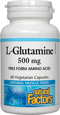 Natural Factors L-Glutamine 500 mg 60 Capsules