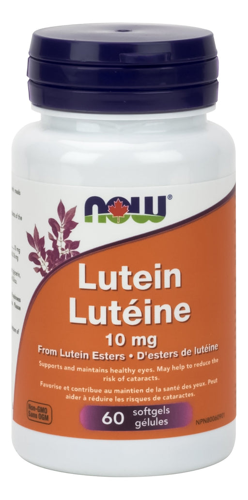 NOW Lutein Esters 10 mg 60 Softgels