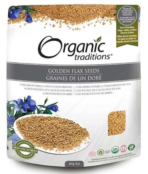Organic Traditions Golden Flax Seeds