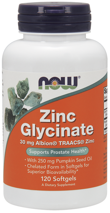NOW Zinc Glycinate 30 mg 120 Softgels