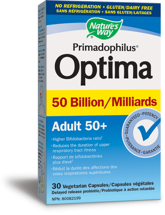 Nature's Way Primadophilus Optima 50 Billion Adult 50+ - No Refrigeration Required