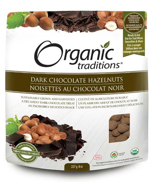Organic Traditions Dark Chocolate Hazelnuts