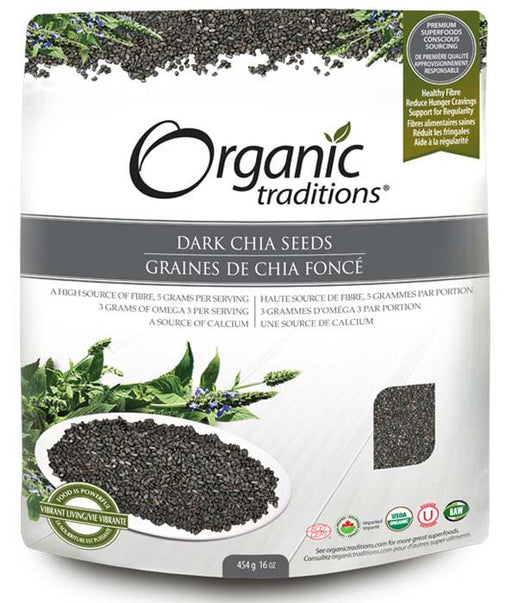 Organic Traditions Dark Chia Seeds
