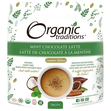 Organic Traditions Mint Chocolate Latte 150 g