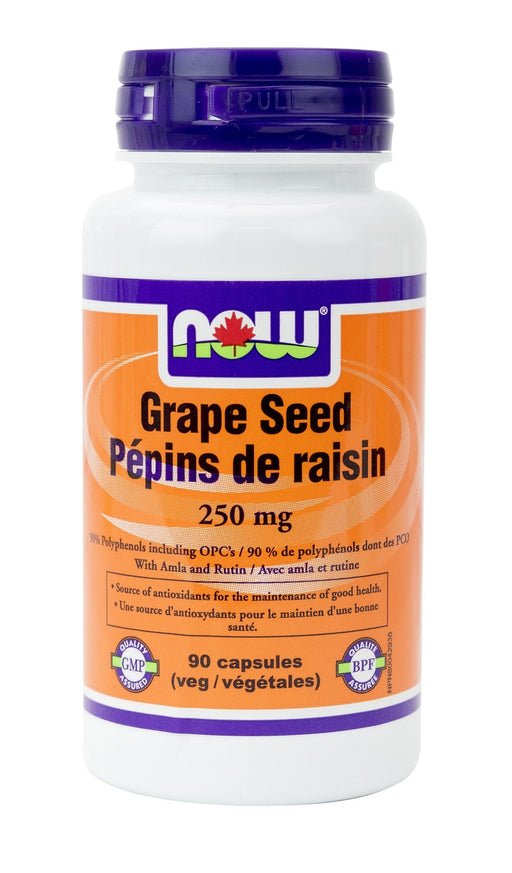 NOW Grape Seed Extract 250mg 90 V-Caps