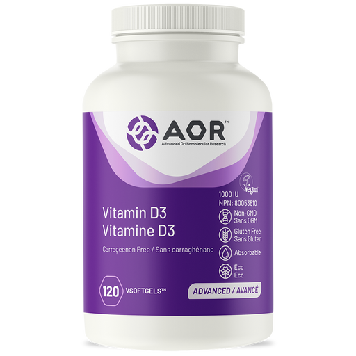 AOR Sustainable Vitamin D3 120 V-Softegels