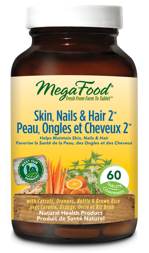 MegaFood Skin, Nails And Hair 2 60 Tablets
