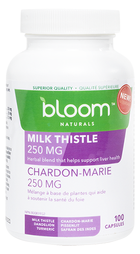 Bloom Naturals Milk Thistle 250 mg 100 Capsules