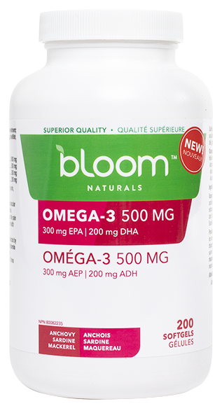 Bloom Naturals Omega-3 500 mg 200 Softgels