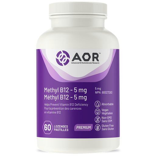 AOR Methyl B12 5mg 60's
