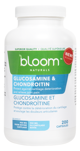 Bloom Naturals Glucosamine and Chondroitin 200 Capsules