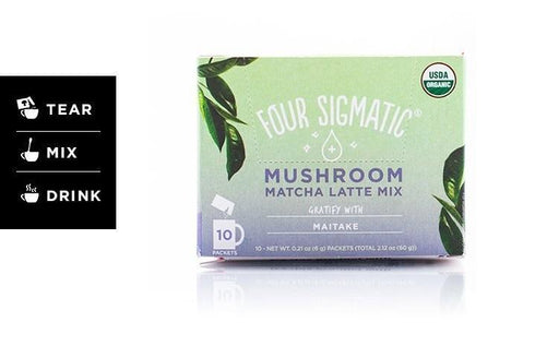 Four Sigmatic Mushroom Matcha Latte with Maitake 10 x 6 g Packets
