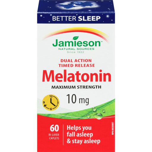 Jamieson Melatonin 10 mg Timed Release Dual Action 60 Caplets