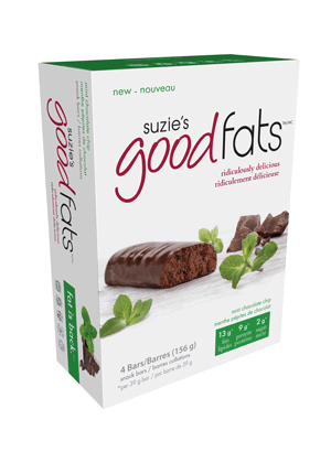 Suzie's Good Fats Mint Chocolate Chip (Box of 4)
