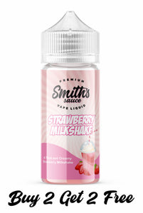 Smiths Sauce | Strawberry Milkshake E Liquid | 100ml