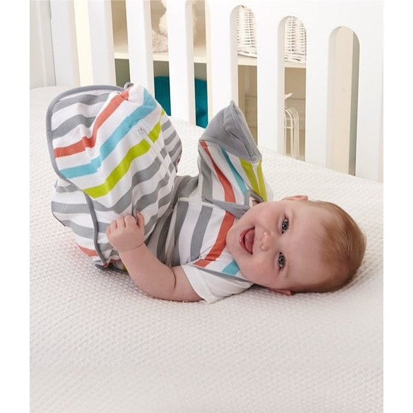 Love to Dream - Love to Swaddle Up 50/50 Summer Lite - Stripes Multicolour, , Swaddle, Love To Deam, Carry Them Close