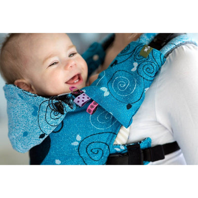 Lenny Lamb - Suck Pads and Reach Strap Set - Blue Princessa, , Carrier Accessories, Lenny Lamb, Carry Them Close  - 2